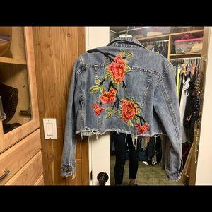 Sunset & Spring Denim Embellished Jacket